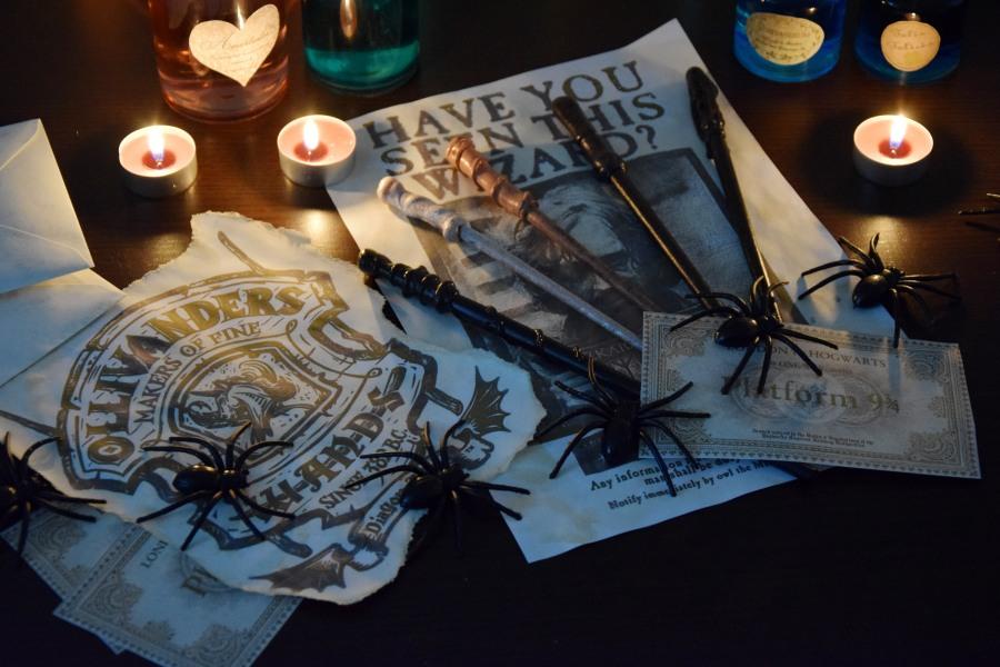 diy harry potter halloween dekoration heeeykatie. Black Bedroom Furniture Sets. Home Design Ideas